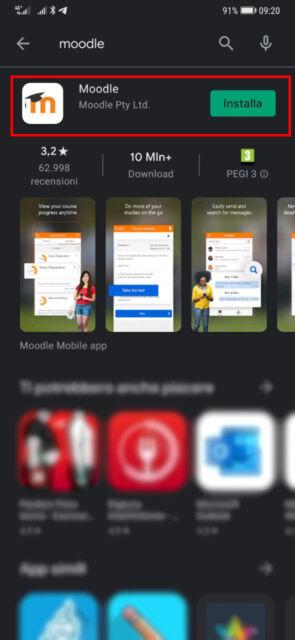 4. clicca sull'app