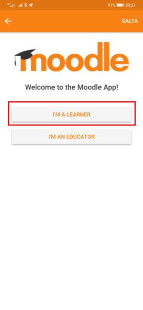6. clicca su i am a learner